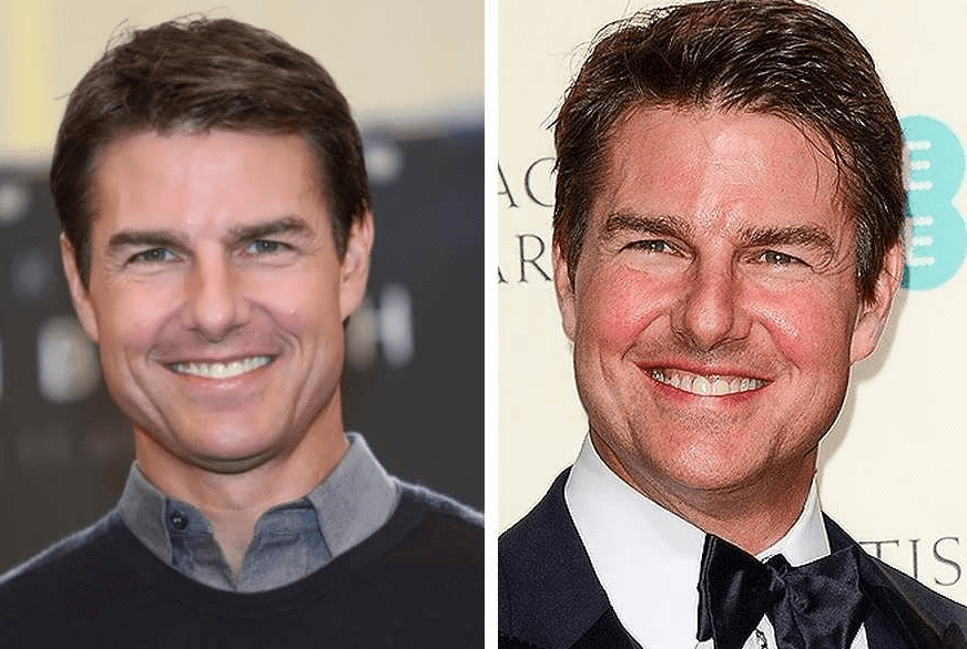 A closer look at Tom Cruise's face