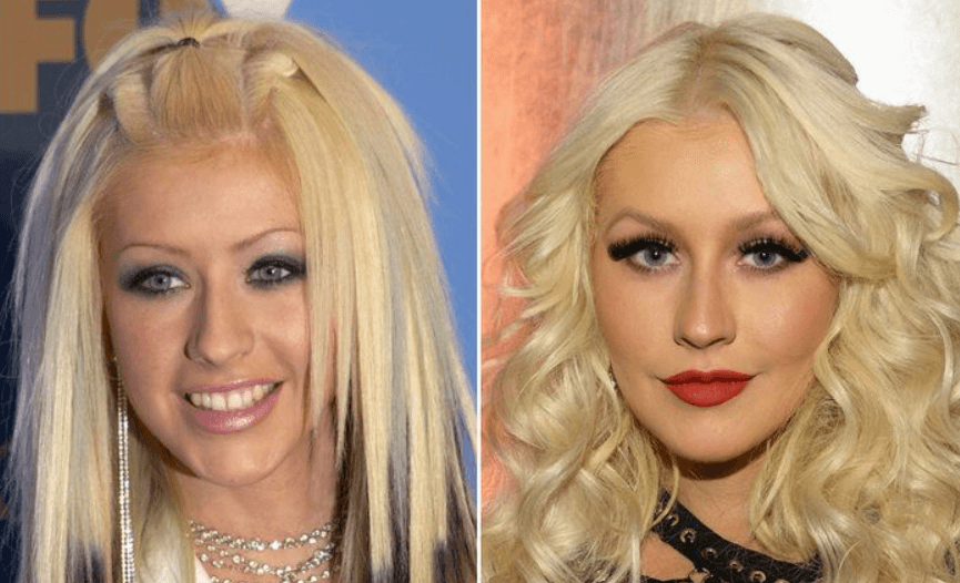 What did Aguilera Plastic do with her lips.