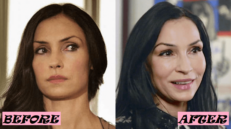 Famke Janssen Before and After Photo